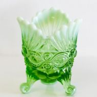 Vintage Green Opal Compote