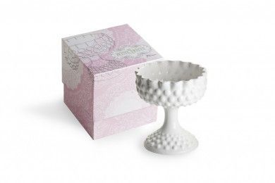 White Hobnail Compote