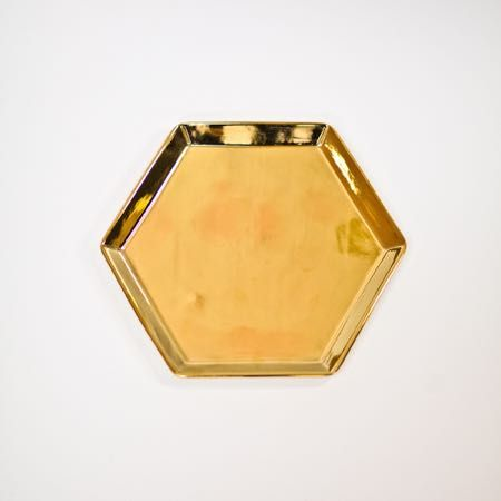 Gold Hexagon Platter
