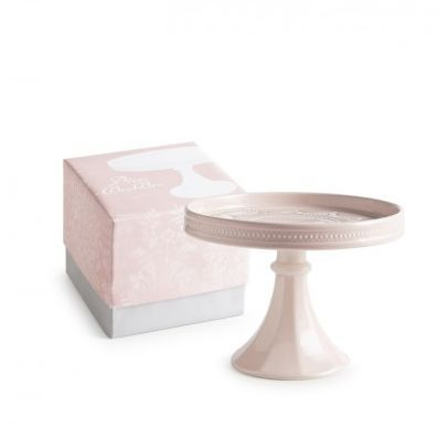 Light Pink Rimmed Cake Stand